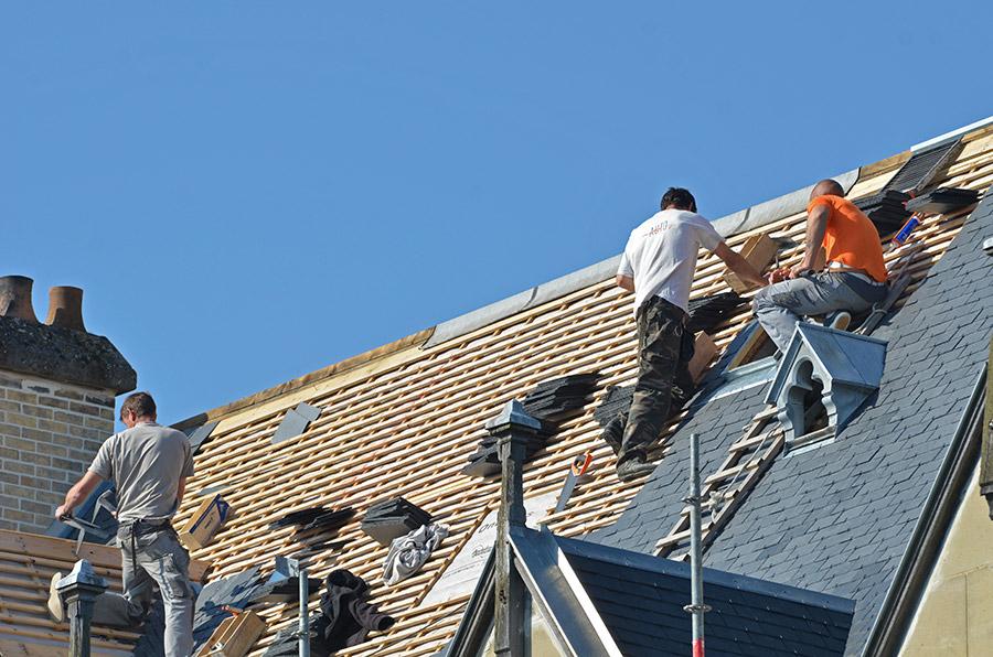 projet de couverture de la toiture